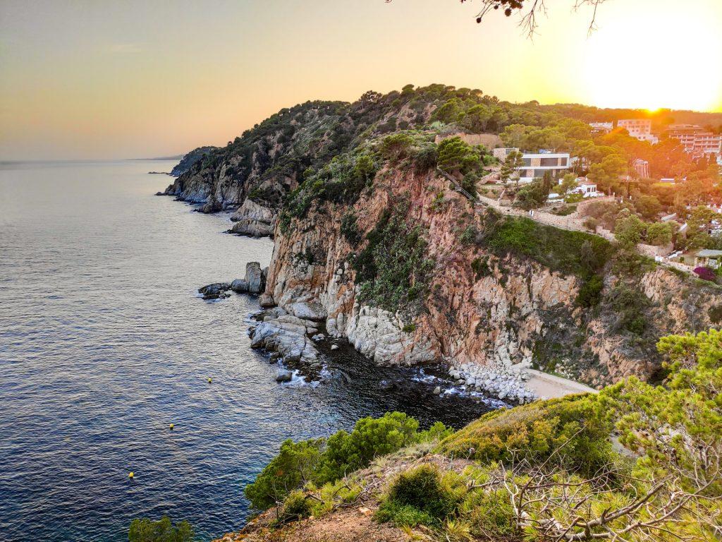 Coastline of the Costa Brava near Girona