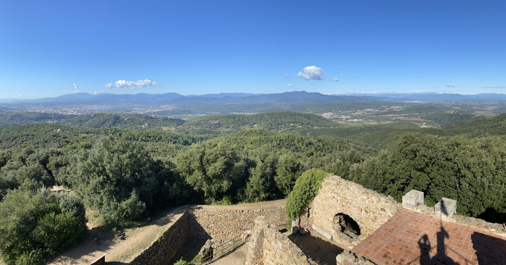 The view from Castell de Sant Miquel   during mountain biking in Las Gavarres - Girona